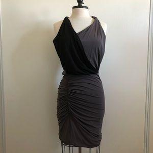 Halston Heritage Black and Grey Cocktail dress M
